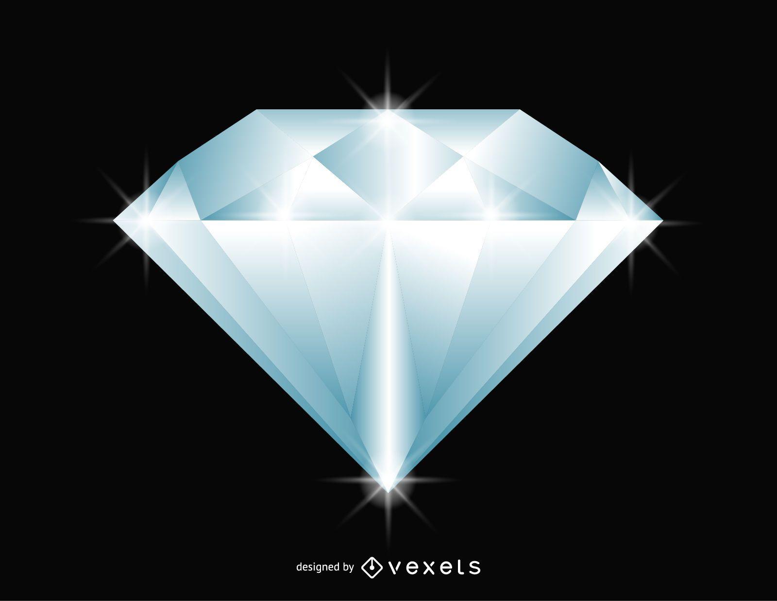 Glittering diamond illustration