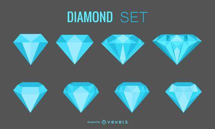 Conjunto de gemas de diamantes