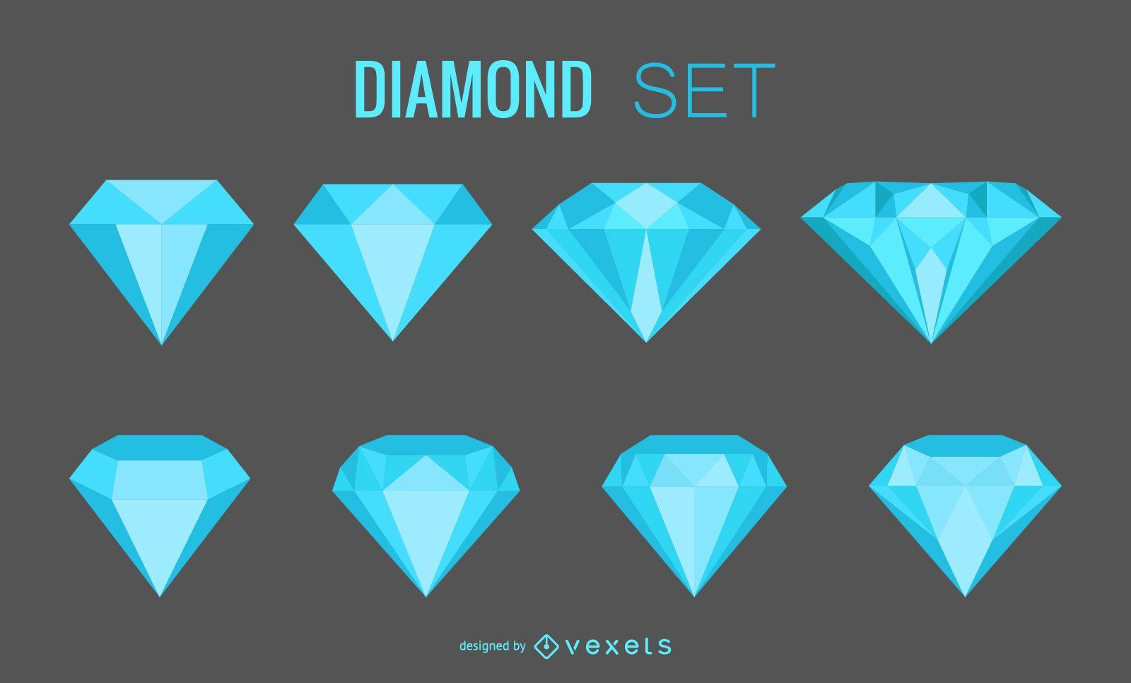 Diamond gems set