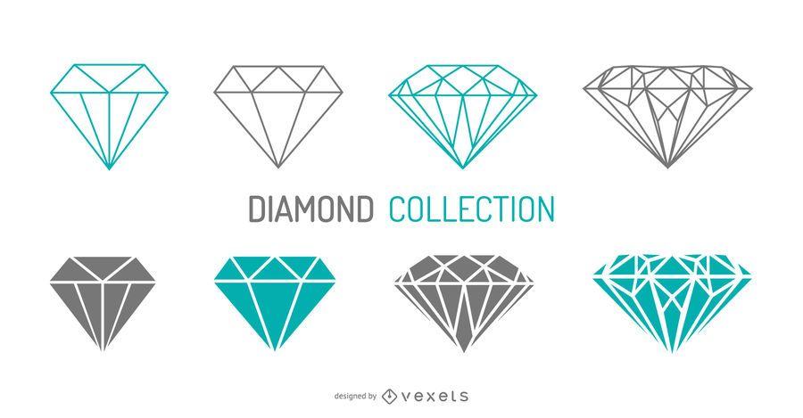 Stroke diamonds set