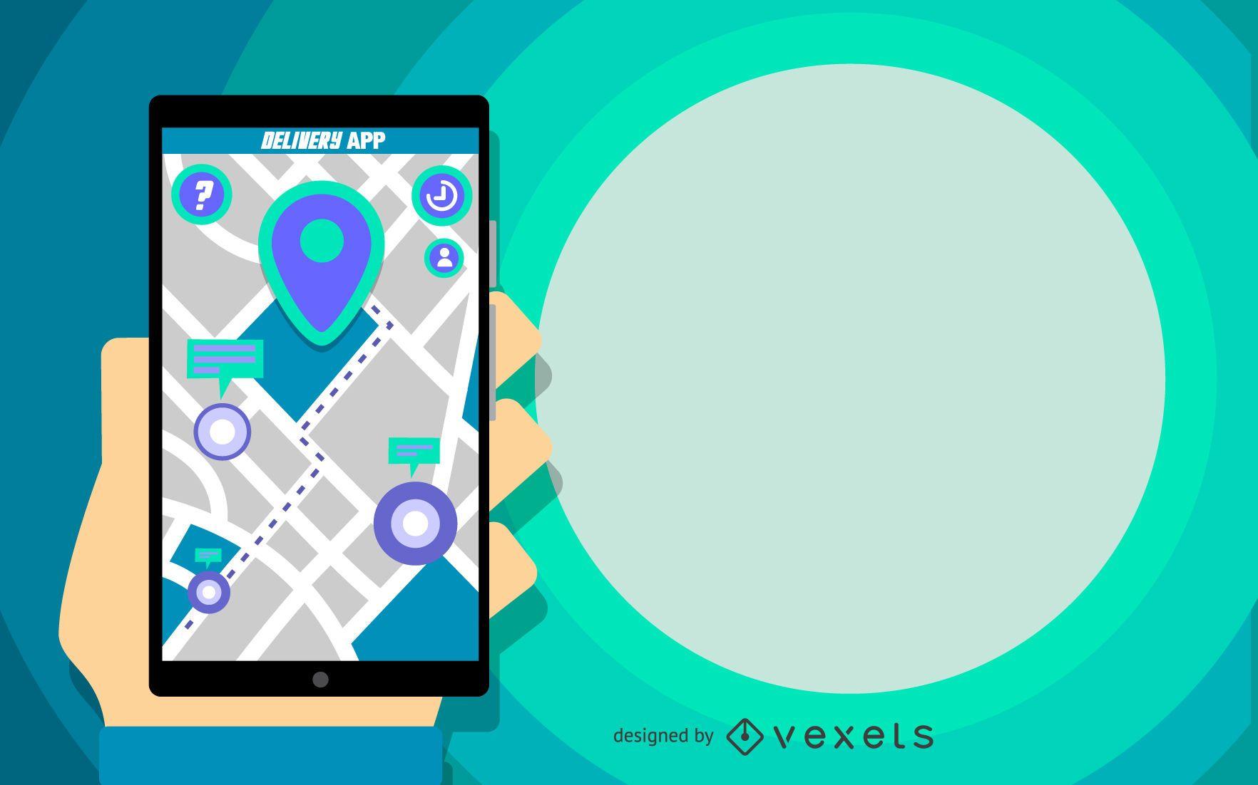 Design de aplicativo de entrega
