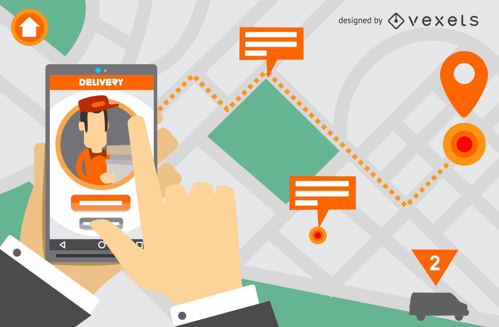 Delivery app screen design