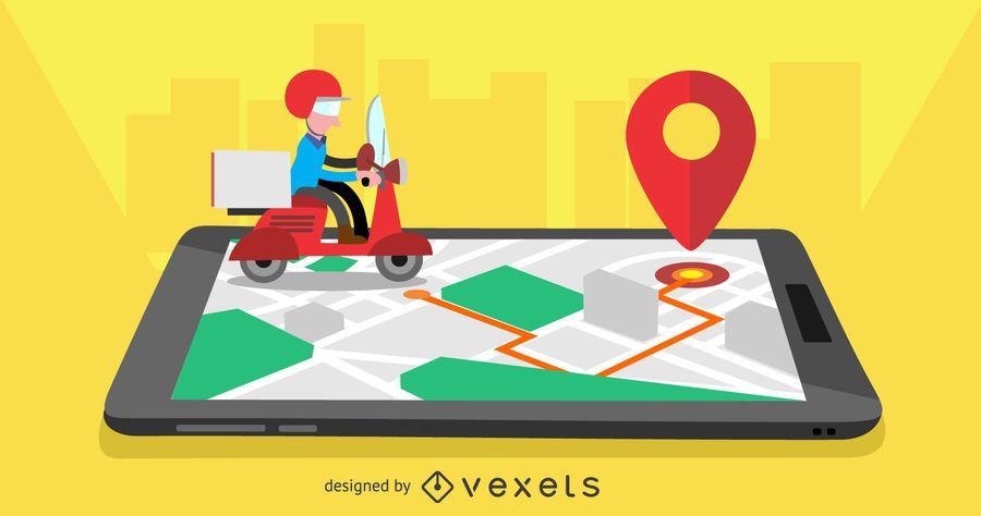 Diseño de la aplicación móvil de entrega.