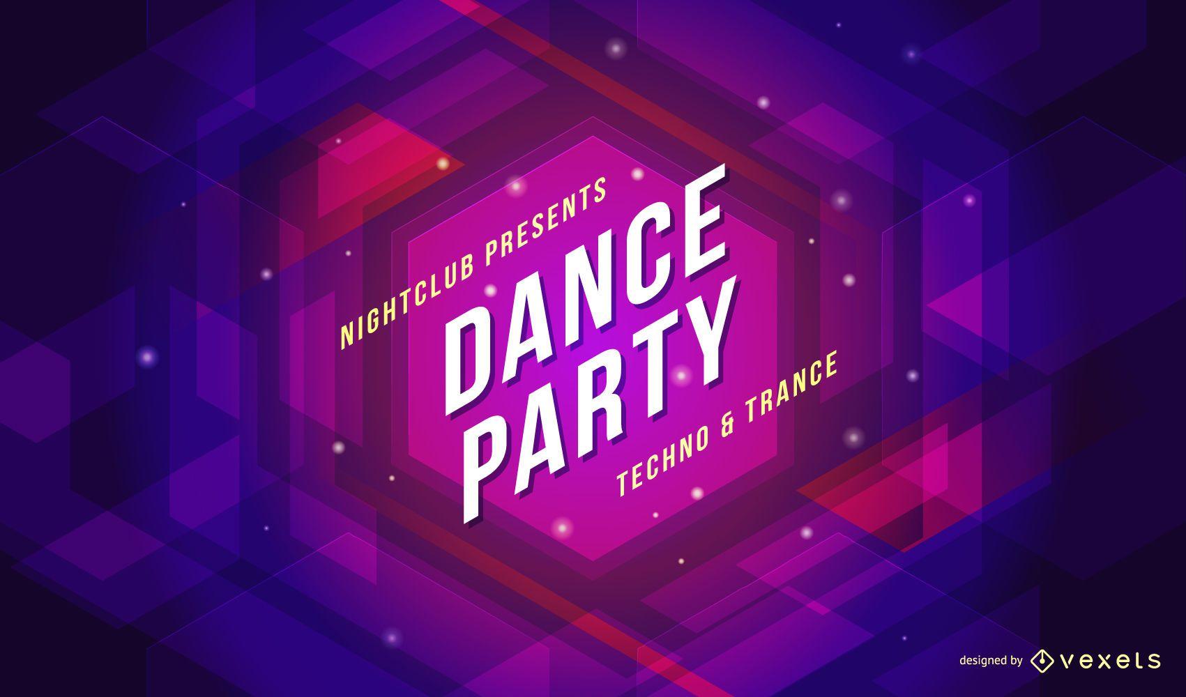 Cartel de fiesta de baile