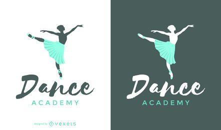 Plantilla de logotipo de danza de ballet