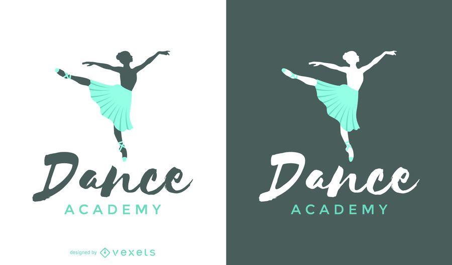 Modelo de logotipo de dança de balé