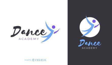 Diseño de logotipo de la academia de baile