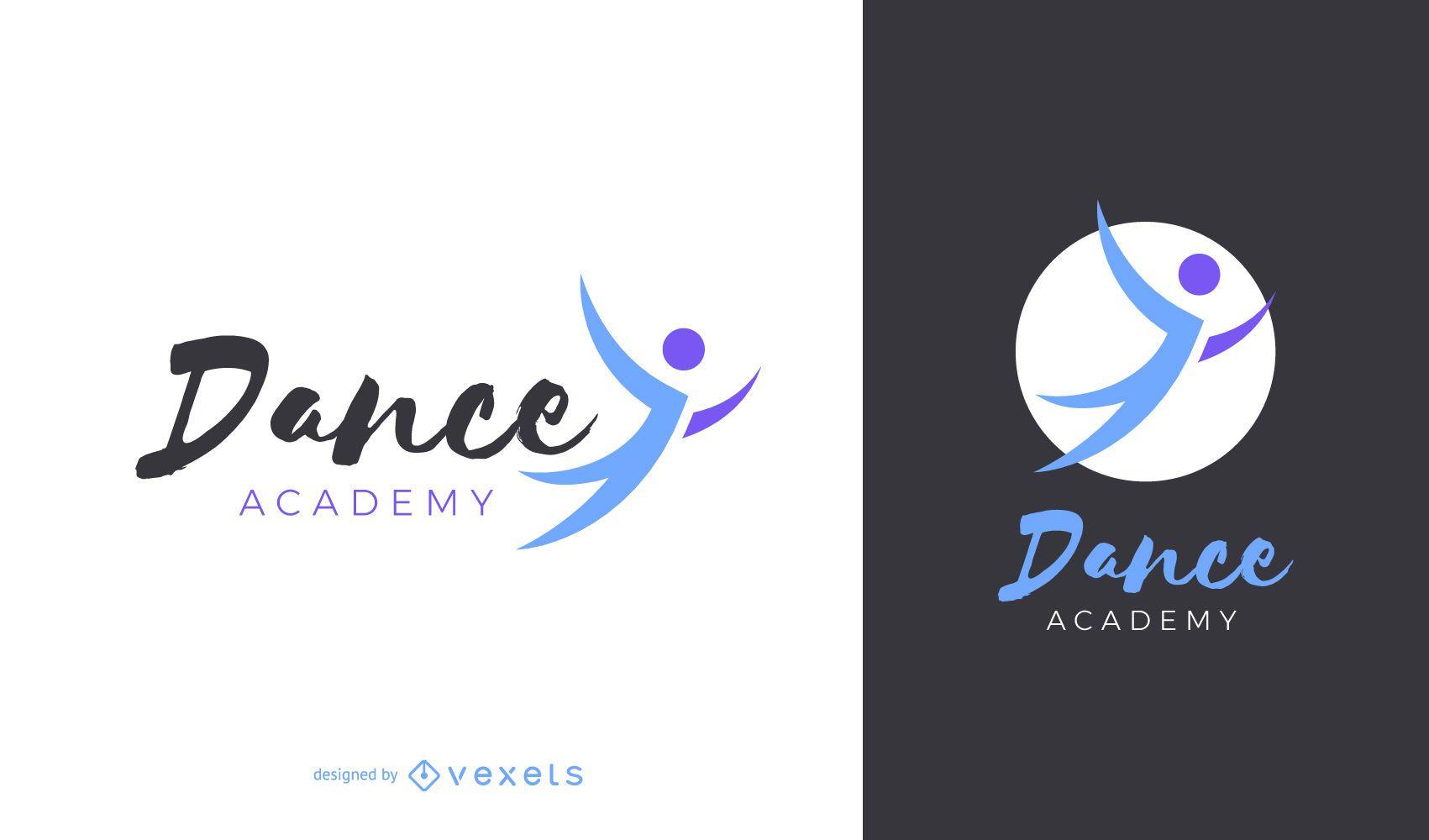 Diseño de logo de academia de baile