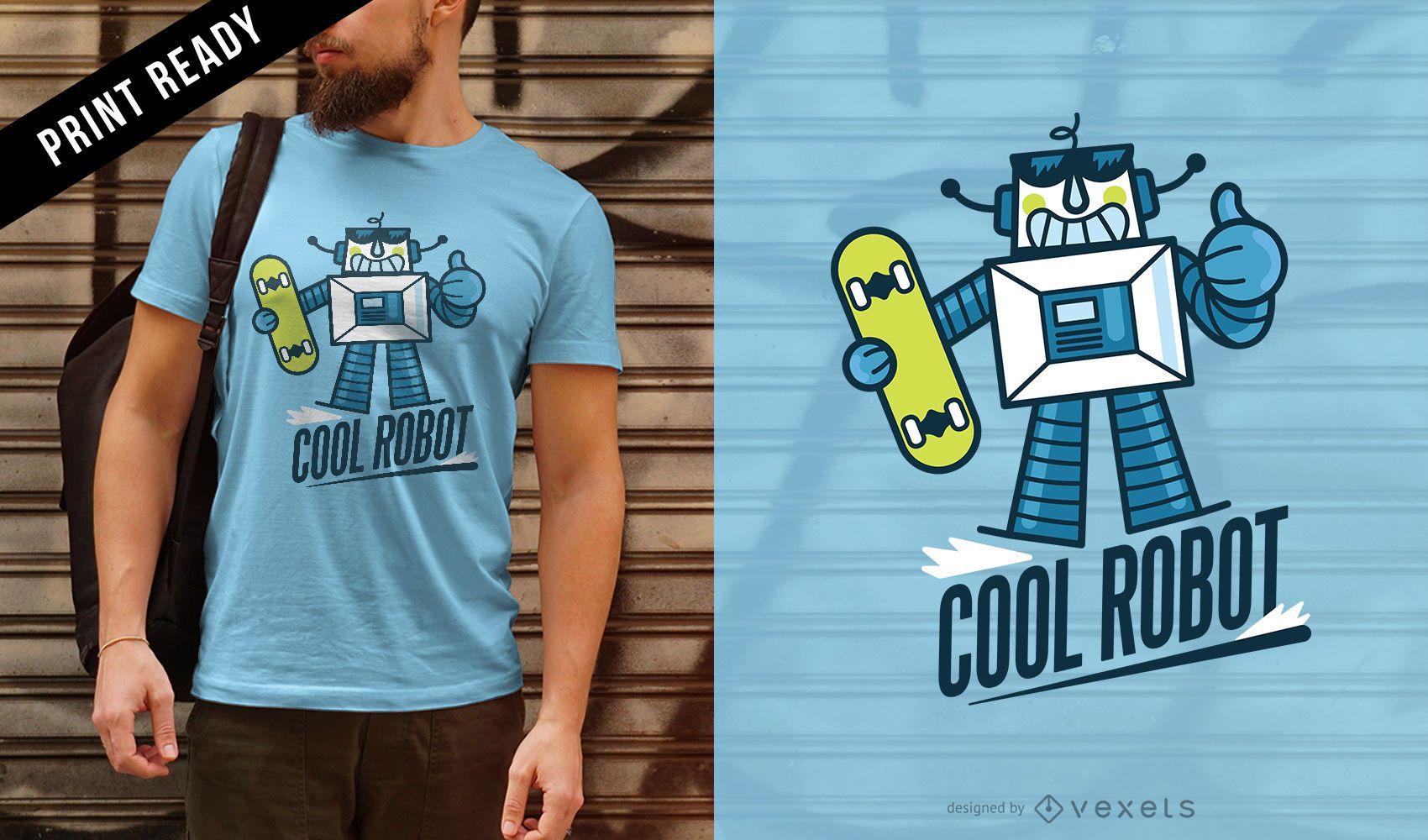 Lindo diseño de camiseta de robot
