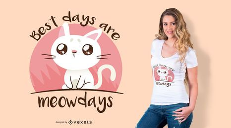 Meowdays cat t-shirt design
