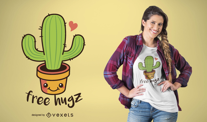 Dise?o de camiseta de abrazos de cactus
