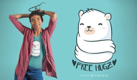 Urso, abraço, t-shirt, desenho