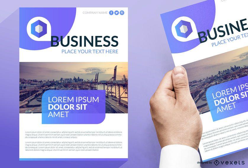 Diseño de folletos de negocios