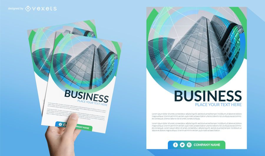 Business leaflet template vector download business leaflet template wajeb