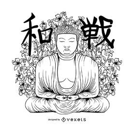 Ilustração de Buda