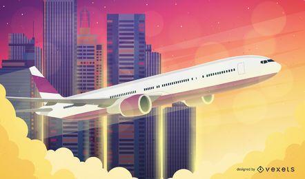 Plano de fundo do avião