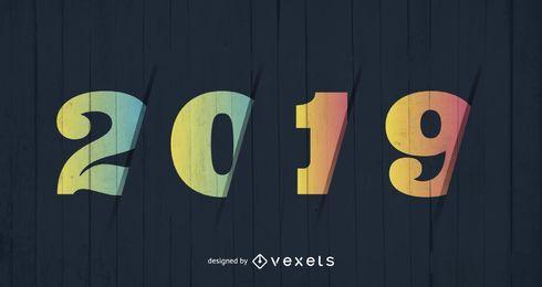 Neues Jahr 2019 Design