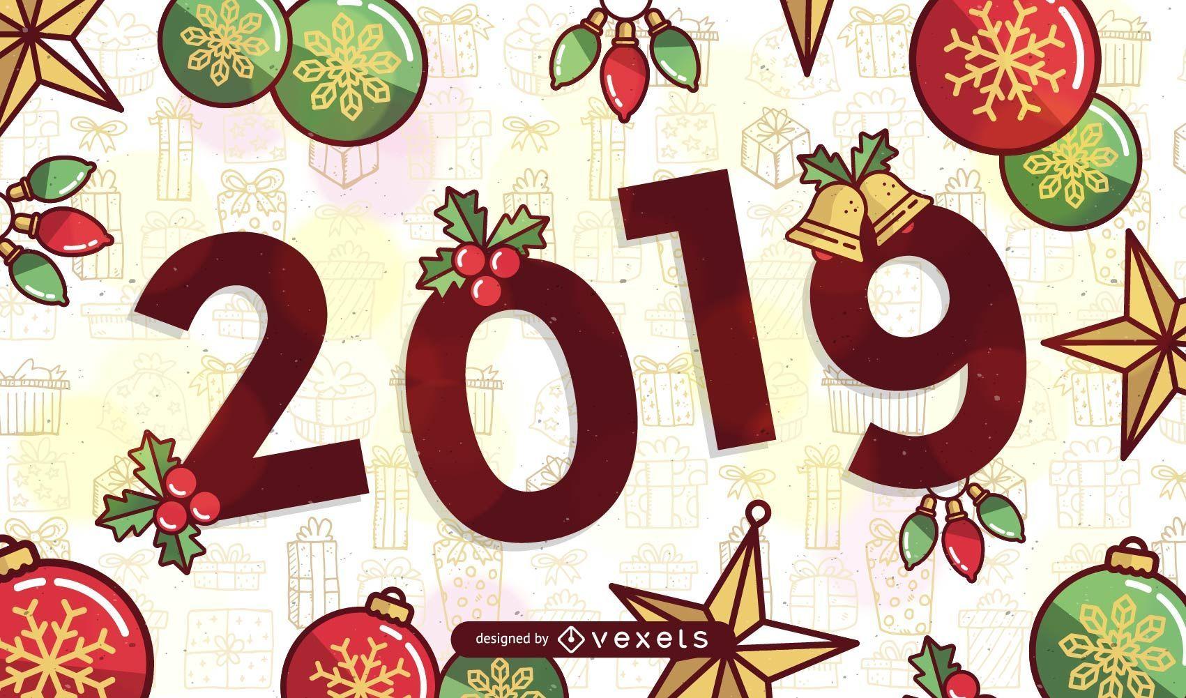 2019 Christmas.2019 Christmas Design Vector Download