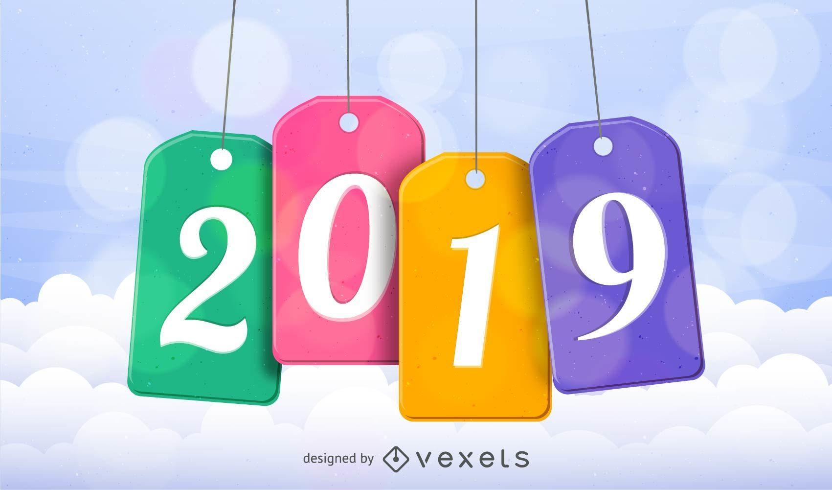 2019 hanging tags design