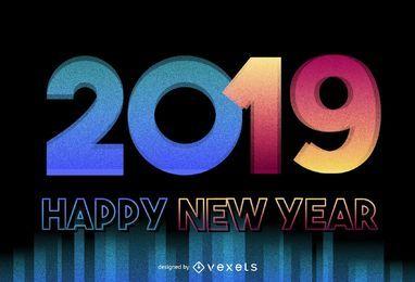 diseño de año nuevo 2019