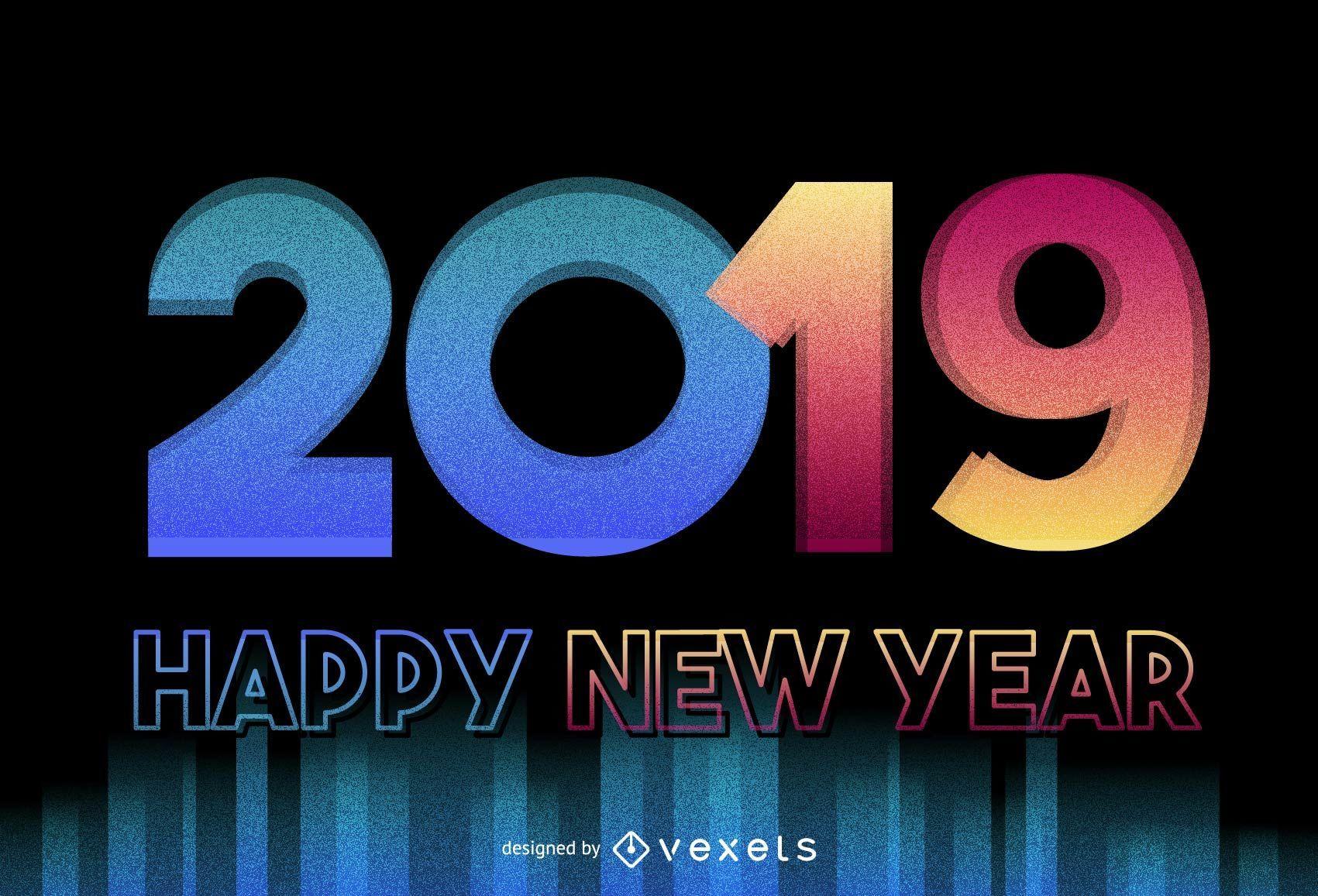 new year design 2019