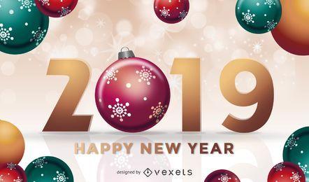 Diseño de bolas de navidad 2019