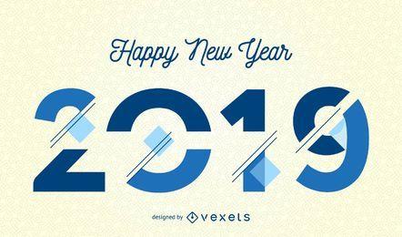 Feliz ano novo 2019 design