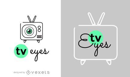 Logotipo de olhos de televisão