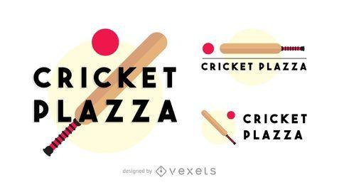 Logotipo de plazza de críquete