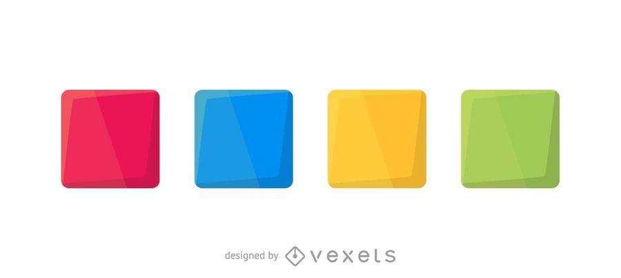 Conjunto de cuadrados de colores
