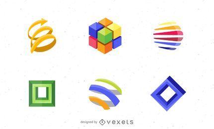 Conjunto de elementos de diseño de logotipo