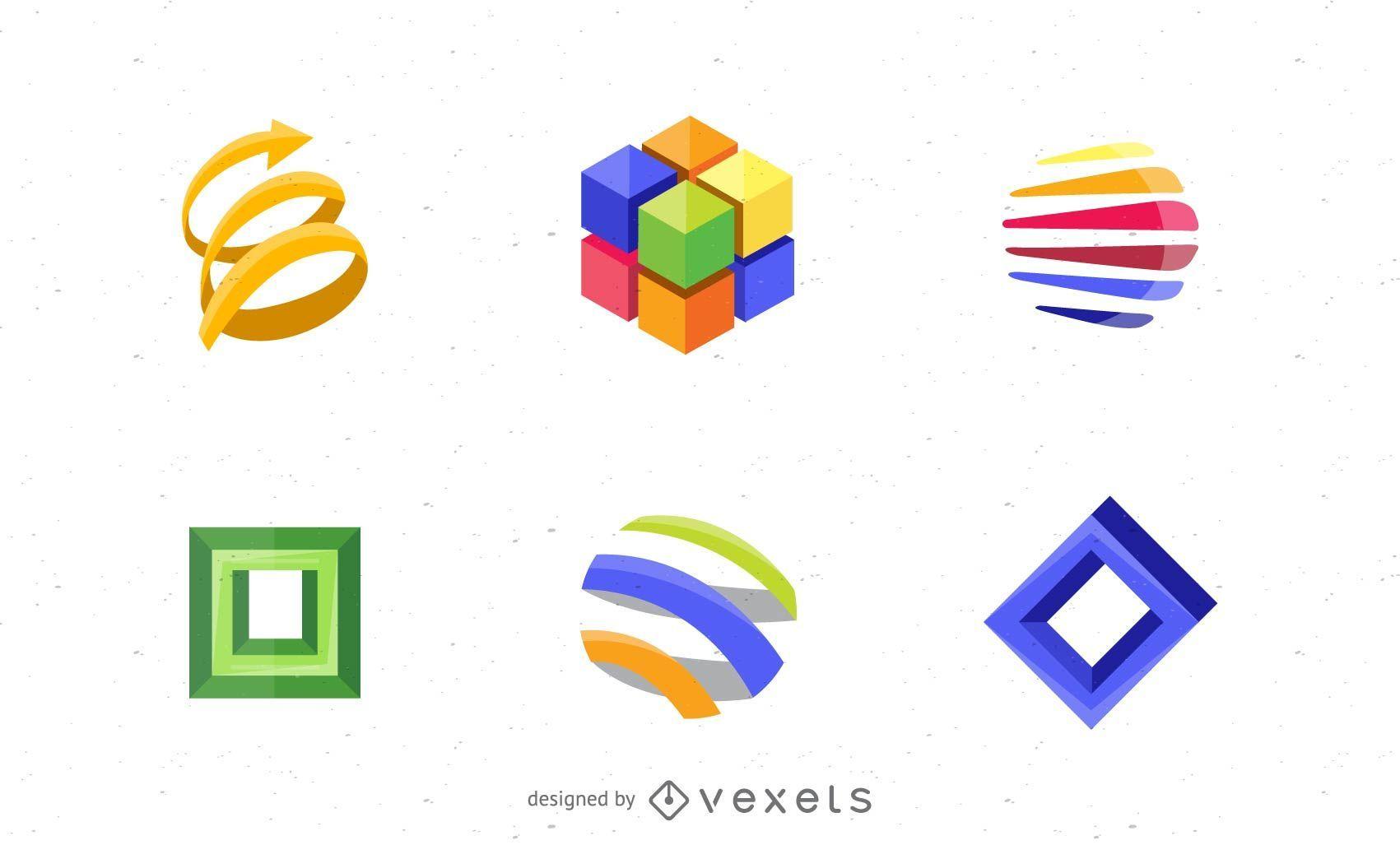 Conjunto de elementos de design de logotipo