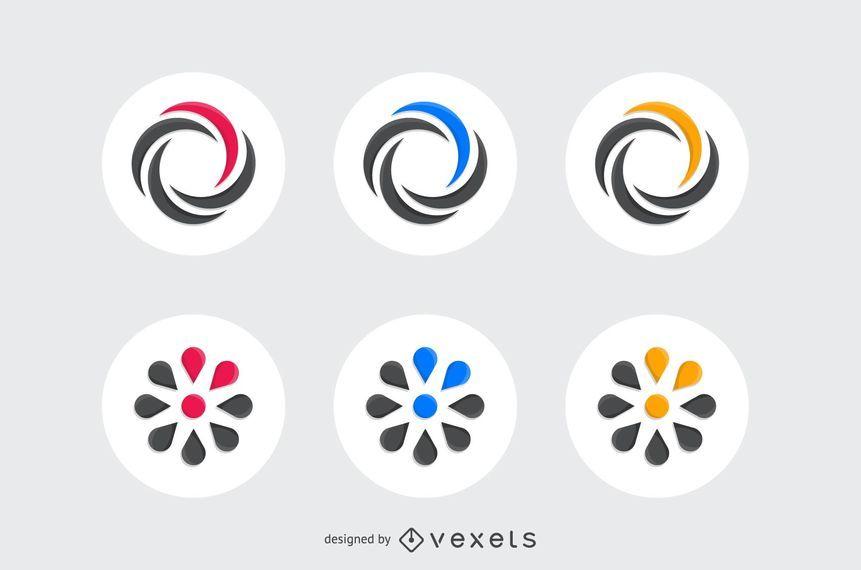 Kit de elementos de diseño de logotipo