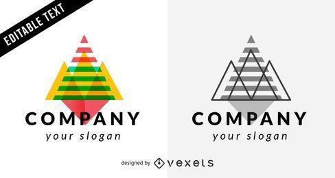 Modelo de logotipo de negócios com triângulos