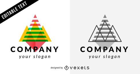 Plantilla de logotipo de empresa con triángulos