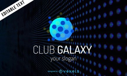 Logotipo de neón club Galaxy