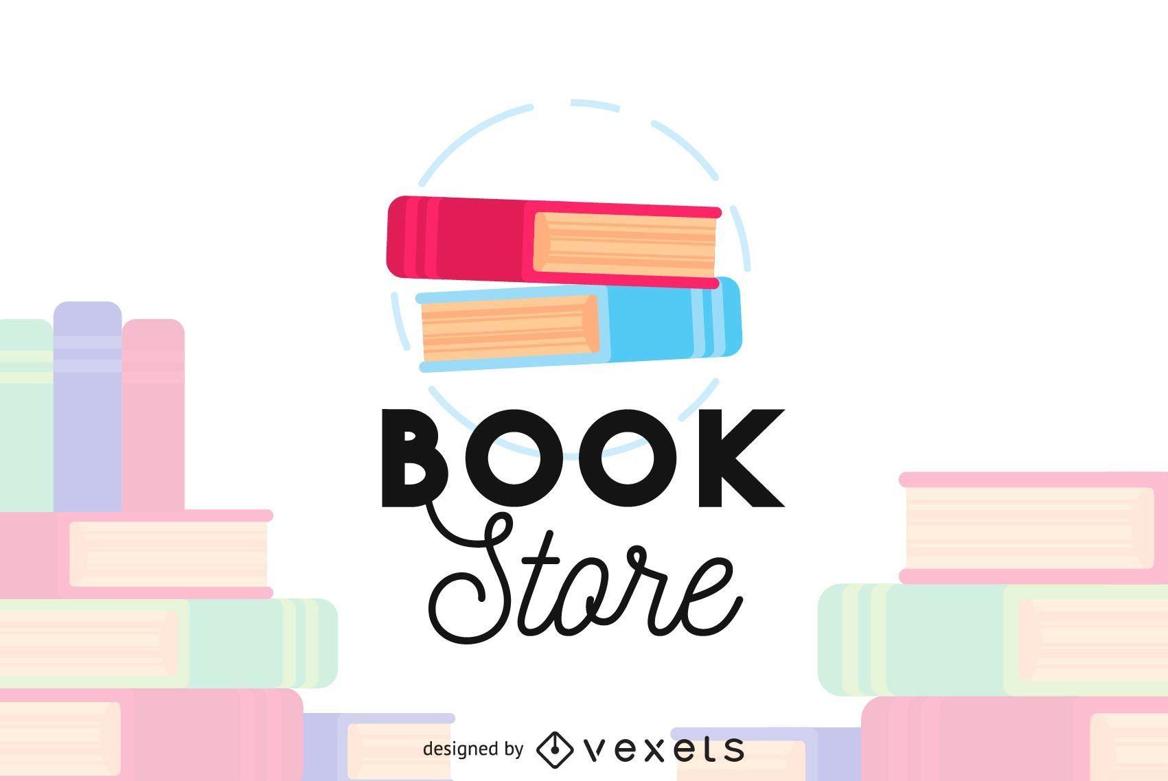 Plantilla de logotipo de tienda de libros