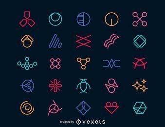 Modelo de elementos do logotipo