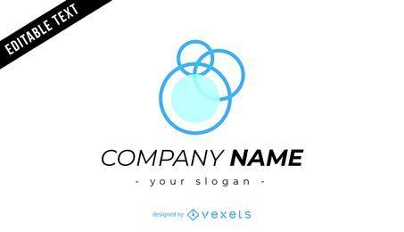 Diseño de logotipo de empresa con burbujas.