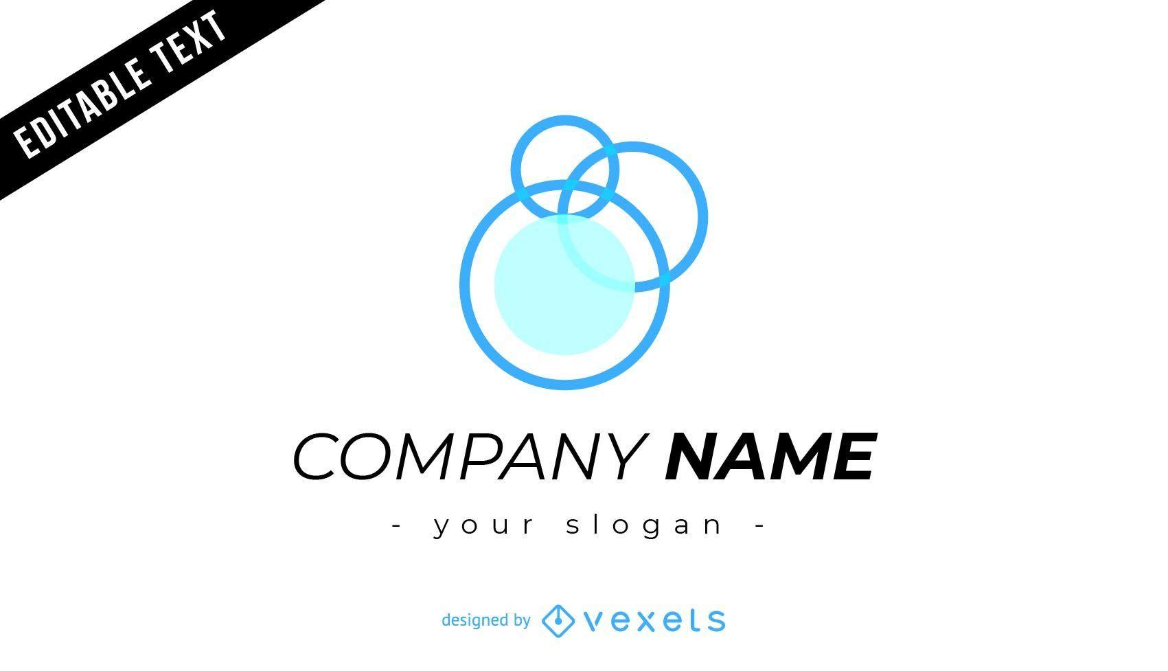 Company logo design with bubbles