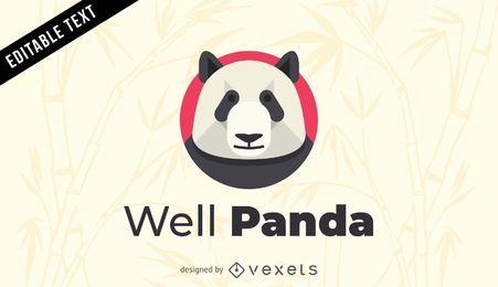 Plantilla de logotipo de panda bien