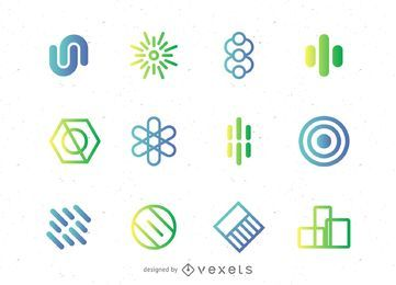 Logo conjunto de elementos abstractos