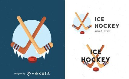 Ice hockey logo template