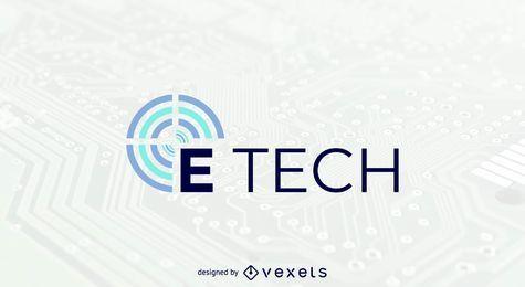 Modelo de logotipo de tecnologia E
