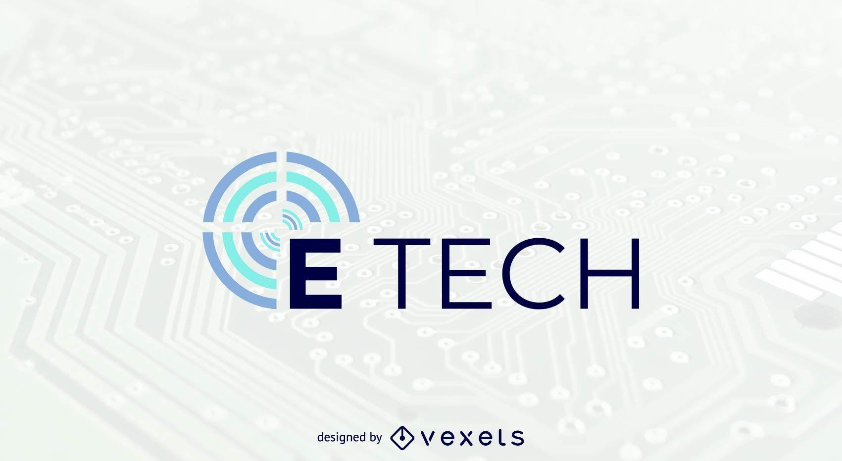 E tech logo template