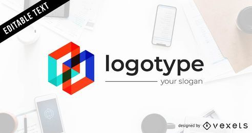 Logotipo de comunicación moderna