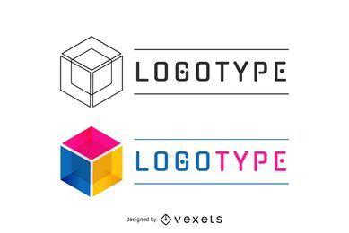 Logotipo de negócios em várias cores