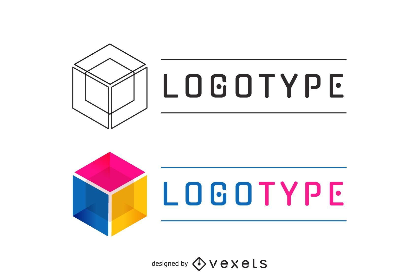 Business logotype in multiple colors