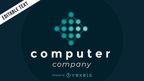 Logotipo de la empresa informática con nodos