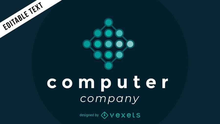 Computerfirmenlogo mit Knoten